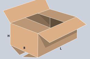 Faltkarton 309x222x120 mm DIN A4