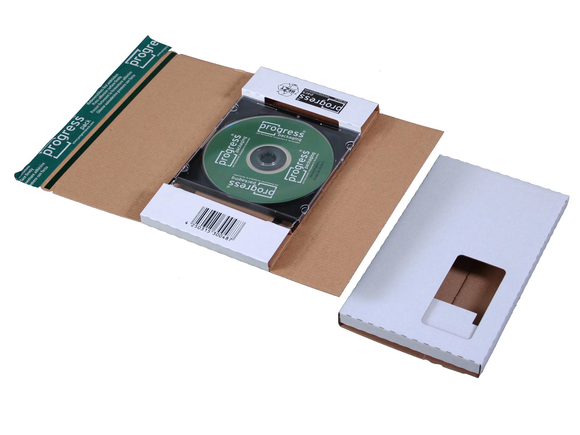 CD-Jewel-Mailer (mit Fenster) 228x130x17 mm